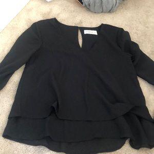 abercrombie black blouse